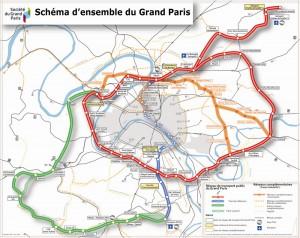 carte transport public du Grand Paris saclay