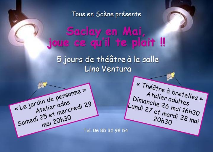 affiche chapeau 2013 Tous en Scene à Saclay