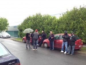 Grévistes Cars d'Orsay